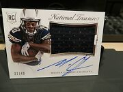 National Treasures Rookie Autograph Jersey Chargers Melvin Gordon 37/49 2015