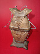 Rare Old Asian Folk-art Carved Wood Frog - Toad Box Inro 6 3/8