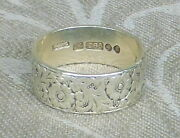 1880 British 14k Green White Gold Floral Ring Size 10 Arts And Crafts London