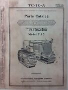 T-20 International Tractractor Crawler Tractor Owner Service And Parts 3 Manuals