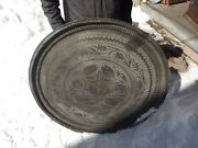 Antique Middle Eastern Islamic Persian Copper Tray 38.5