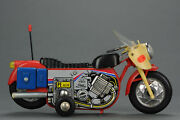 Antique Tin Toy 1960and039s Pe 820 Chinese Plastic + Tin Toy Motorcyle China Me Mf