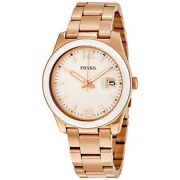 Fossil Women's Perfect Boyfriend Rose Gold Tone Stainless Steel Watch Ce1088