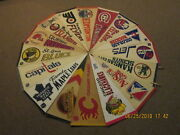 Nhl Lot Of 16 Vintage Circa 1970and039s And 1980and039s 3 Defunct Teams Logo Hockey Pennants