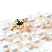 New 9mm Akoya Diamond White Pearl Necklace Gold Pacific Pearls® Valentines Gifts