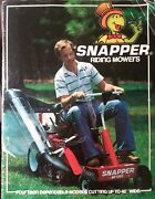 Snapper Riding Lawn Mower 25063s 42113s Tractor Sales Color Brochure Manual 1979