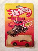 Hot Wheels 80and039s Corvette The Hot Ones 3928 New 1982 Redblack Bagin Hatch