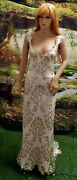 Sample Gown- Orelia Ivory Gold Sequin Backless Hybrid Sheath Mermaid Bridal Gown