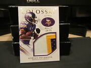 National Treasures Colossal Game Worn Jersey Vikings Adrian Peterson 14/25 2016