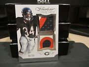 Panini Flawless Blue Worn Dual Patches Jersey Bears Walter Payton 20/20 2015