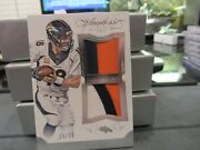 Panini Flawless Blue Dual Patches Jersey Broncos Peyton Manning 15/20 2015