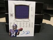National Treasures Rookie Autograph Jersey Vikings Stefon Diggs 72/99 2015