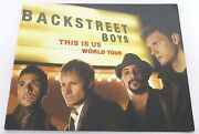 Backstreet Boys This Is Us World Tour Book Color Glossy Bsb Program New