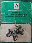 Allis Chalmers 710 712s 712h 716h Lawn Garden Tractor And Implement Owners Manual