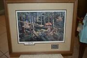 Outfoxed By Ken Zylla Framed Art Print Grouse Red Fox Bird With Stamp