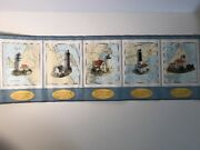 Usa Lighthouses Wallpaper Border Lot Of 3 Vinyl Pre-pasted - Imperial Home Decor