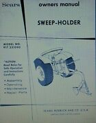 Sears Plow Sweep Holder Garden Tractor Implement Owner And Parts Manual 917.251090