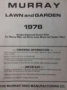 Murray 1976 Riding Lawn Tractor, Walk-behind Mower And Tiller Master Parts Manual