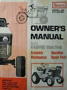 Sears Suburban 14 /6 Garden Tractor And Engine Owner, Parts And Service 2 Manual S