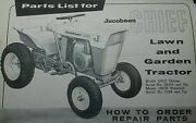 Jacobsen Chief 100-g Owner And 100-c 100-d Lawn Garden Tractor Parts 2 Manuals