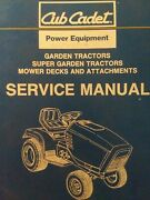 Cub Cadet Super And Garden Tractor, Mowers And Attachments Service Manual 1340 2182
