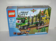New 60059 Lego City Logging Truck Building Toy Green Sealed Box Retired Rare A
