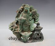 Chinese Dushan Jade God Of Wealth Fortune Wealthy Mammon Buddha Fengshui Statue
