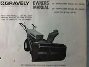 Gravely Walk-behind Garden Tractor 28 And 34 Snow Blower Impl Owner And Parts Manual