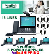 Yealink Sip-t58v Smart Video/media Ip 5 Phones Wifi Bluetooth Android 5 Ac Ps