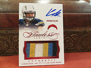 Panini Flawless Autograph Jersey Chargers Auto Keenan Allen 08/15 2014