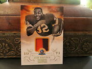 National Treasures Hall Of Fame 1971 Jersey Browns Jim Brown 22/25 2013
