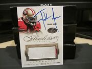 Panini Flawless Silver On Card Autograph Jersey 49er's Frank Gore 12/25 2014