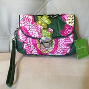 Vera Bradley Small Puffy Wristlet Small Wallet In Retired Olivia Pink Nwt