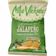 Miss Vickieand039s Jalapeno Kettle Cooked Chips 40ct X 40g/1.4oz Canadian