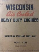 Wisconsin Aenl 1 Cyl Engine Owner Service Parts Manual Lawn Garden Tractor