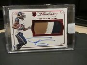 Panini Flawless Ruby Rookie On Card Autograph Jersey Rams Todd Gurley 10/15 2015