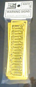 Tichy Train Group N Scale 2619 Warning Signs 90 Pcs