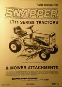Snapper Lt/11 Riding Lawn Garden Tractor Mower And Snow Thrower Parts 2 Manuals