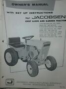 Jacobsen Chief Garden Tractor And Snow Thrower Implement Owners 2 Manual S Ford