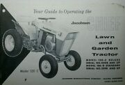Jacobsen Chief 100-g 100-d 100-c Lawn And Garden Tractor Owner 2 Manual S 100g