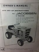 Jacobsen Chief Lt-700 And 750 Lawn And Garden Tractor Owners Manual 28pg Ford 70 75