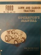 Ford 80 100 120 Garden Tractor And 36 2-stage Snow Thrower Owners 2 Manuals 58pg