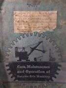 Bucyrus Erie 44-b Crane Excavator Cable Shovel Care Maintenance And Owners Manual