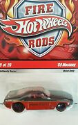 Hot Wheels Fire Rods 9/26 1969 '69 Mustang Vhtf Fort Thomas Ny Fire Dept N9027