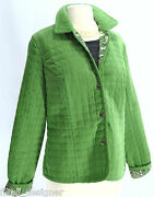 Briggs New York Light Coat Snap Up Thin Quilted Paisley Lined Jacket Top 8 M New
