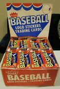 1983 Fleer Baseball Card Rack Pack With 3 Unopened Wax Packs Fresh From Box Case