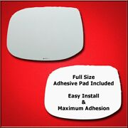 Mirror Glass + Full Adhesive For 09-14 Acura Tsx Driver Side Replacement-heated