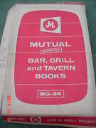 Vintage Mutual Approved Bg-35 Bar Grill And Tavern Books Ideal For Income Tax Prep