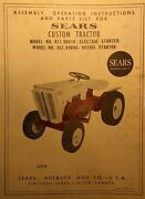 Sears Custom 6 Garden Tractor, Engine, Implements Owner And Parts 7 Manuals 88pg