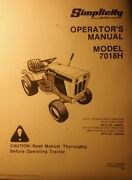 Simplicity 7018h Lawn Garden Riding Tractor Operatorand039s And Parts 2 Manuals 110pg